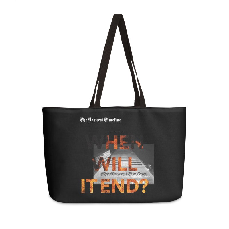 The Darkest Timeline (Read All About It) Accessories Weekender Bag Bag by FWMJ's Shop