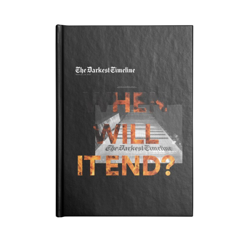 The Darkest Timeline (Read All About It) Accessories Notebook by FWMJ's Shop