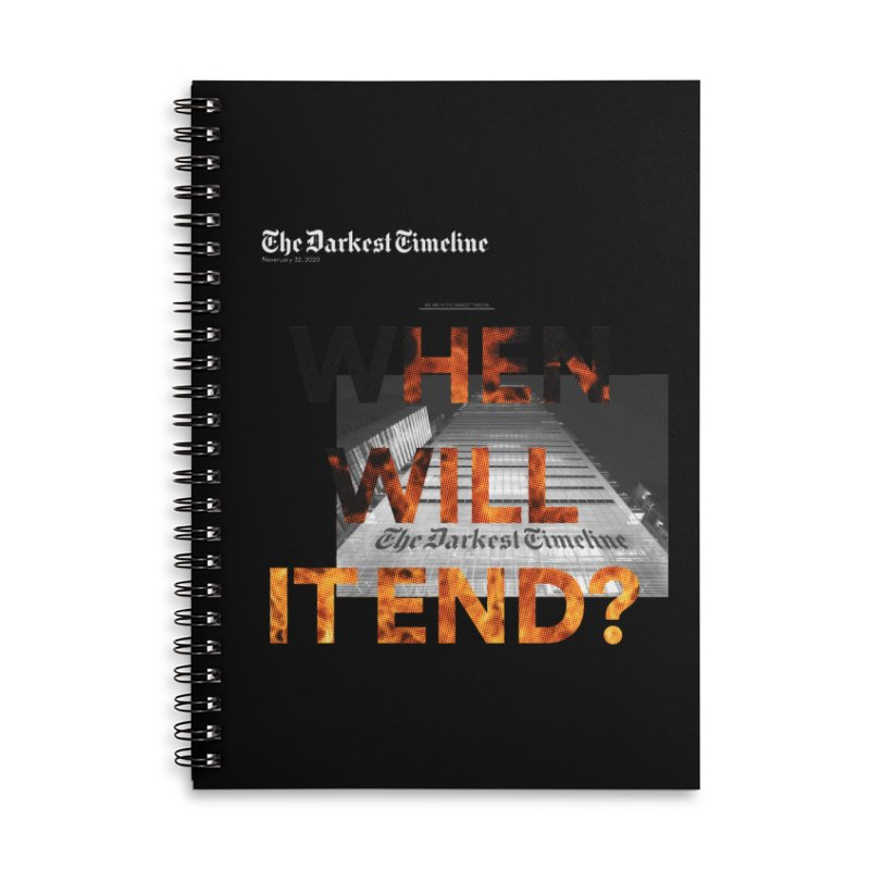 The Darkest Timeline (Read All About It) Accessories Lined Spiral Notebook by FWMJ's Shop