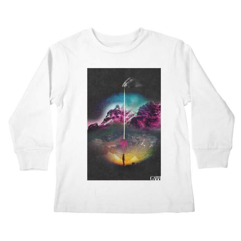 Paracosmic Abduction Kids Longsleeve T-Shirt by GABB DESIGN