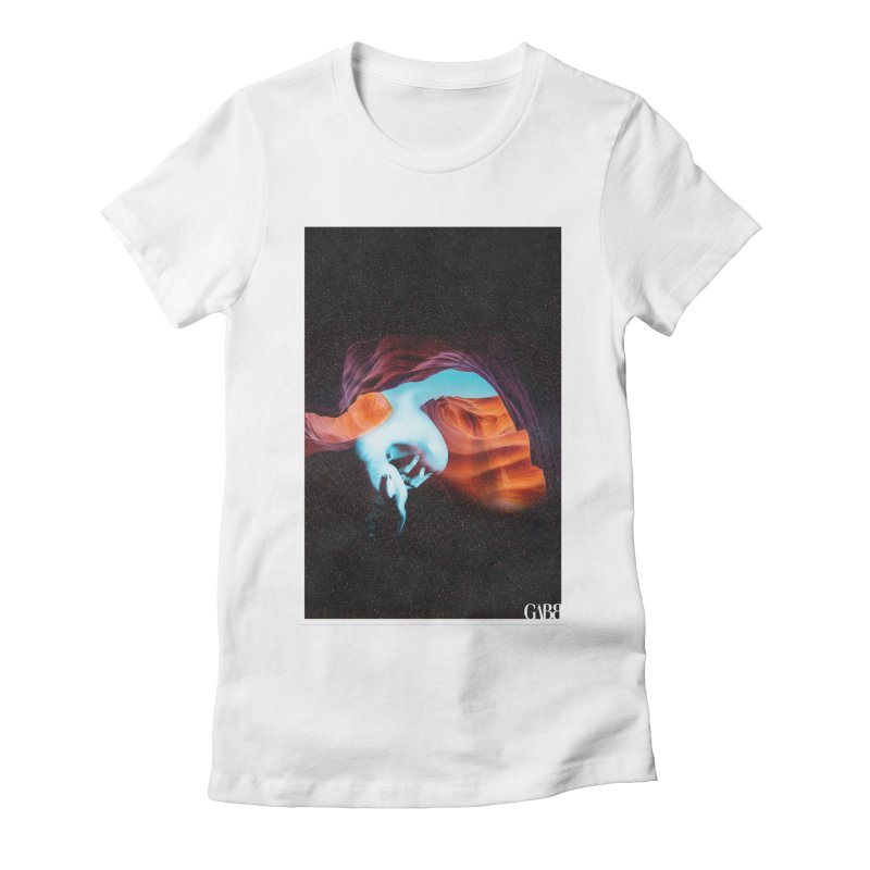 Canyon Kiss Women's Fitted T-Shirt by GABB DESIGN