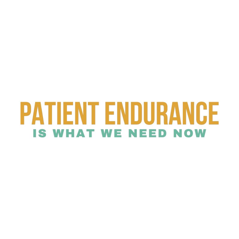 PATIENT ENDURANCE IS WHAT WE NEED NOW Men's T-Shirt by Gabbyrags