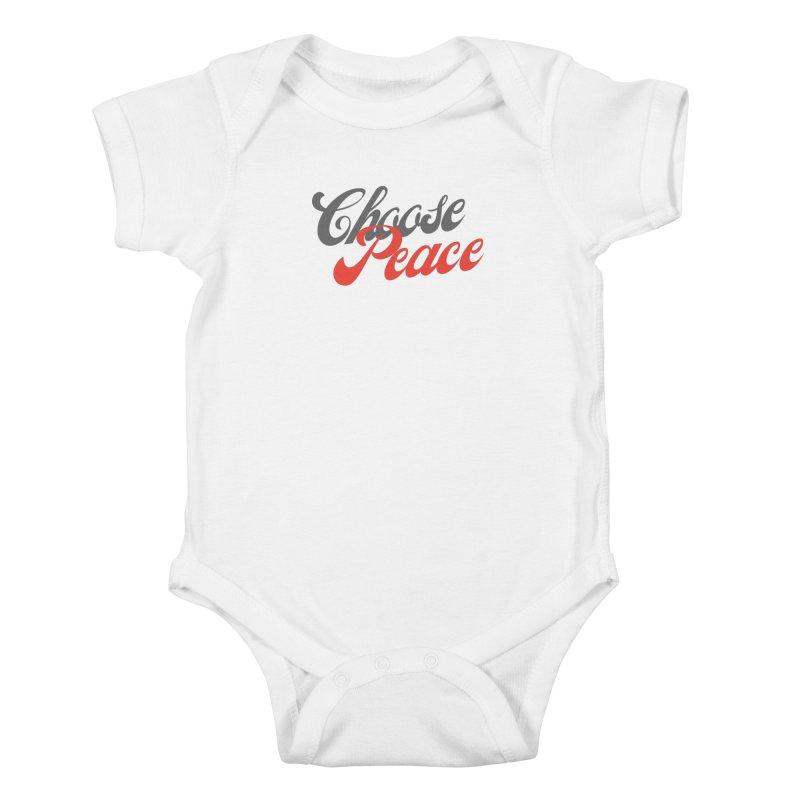 CHOOSE PEACE Kids Baby Bodysuit by Gabbyrags