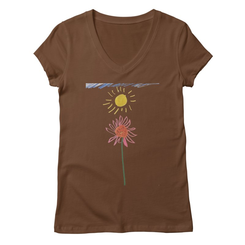 Tays - Reach For The Sky Women's V-Neck by Gabe and Taytay Artist Shop
