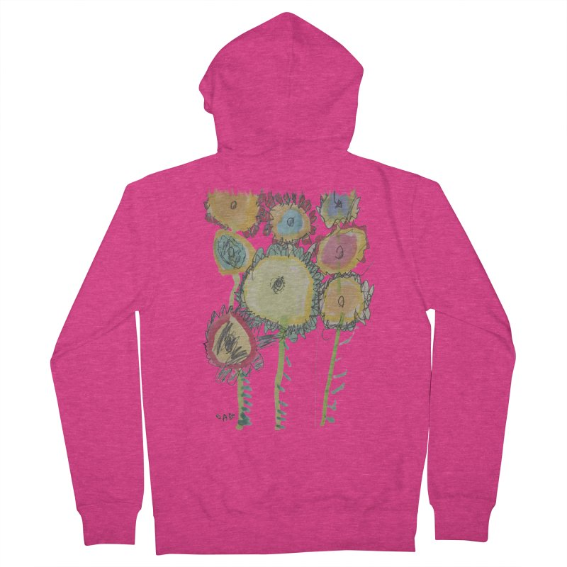 Bouquet of Fleurs Women's French Terry Zip-Up Hoody by Gabe and Taytay Artist Shop