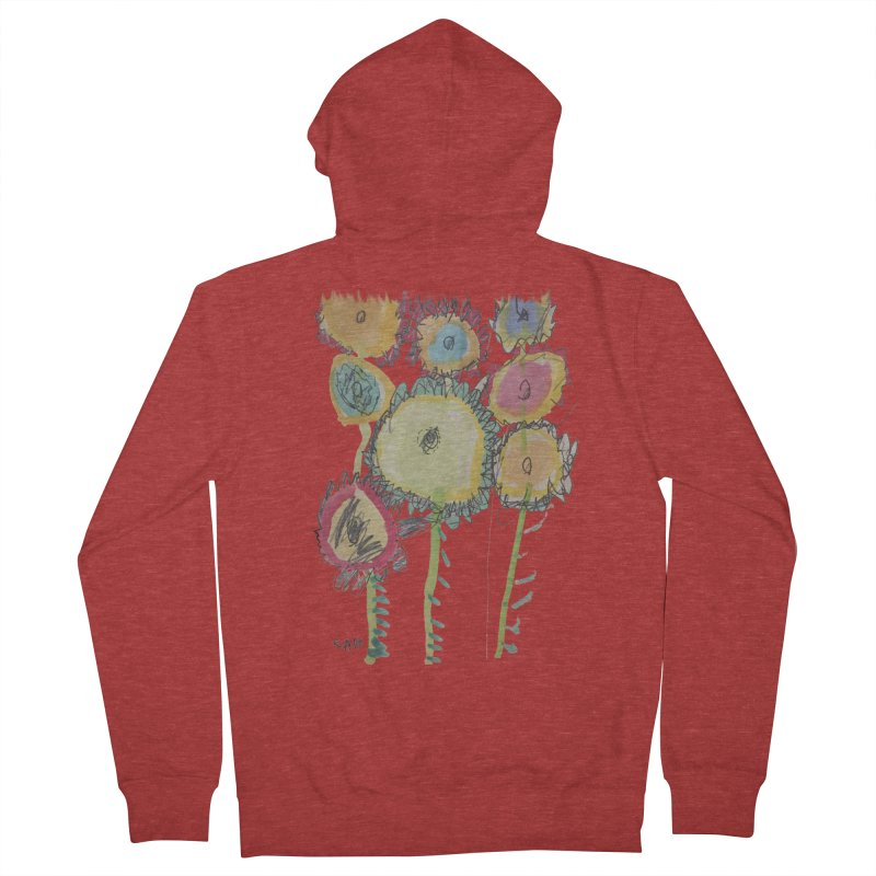 Bouquet of Fleurs Men's Zip-Up Hoody by Gabe and Taytay Artist Shop
