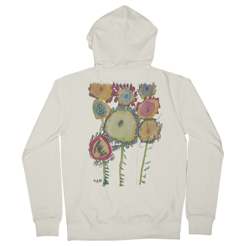Bouquet of Fleurs Men's French Terry Zip-Up Hoody by Gabe and Taytay Artist Shop