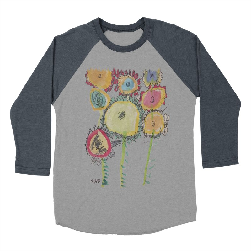 Bouquet of Fleurs Men's Baseball Triblend T-Shirt by Gabe and Taytay Artist Shop