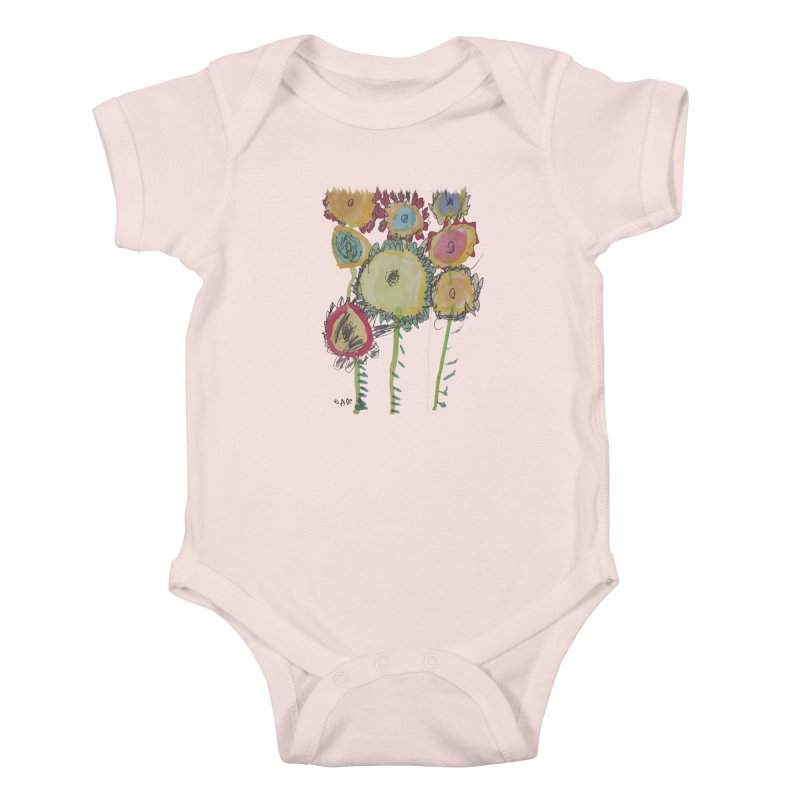 Bouquet of Fleurs Kids Baby Bodysuit by Gabe and Taytay Artist Shop