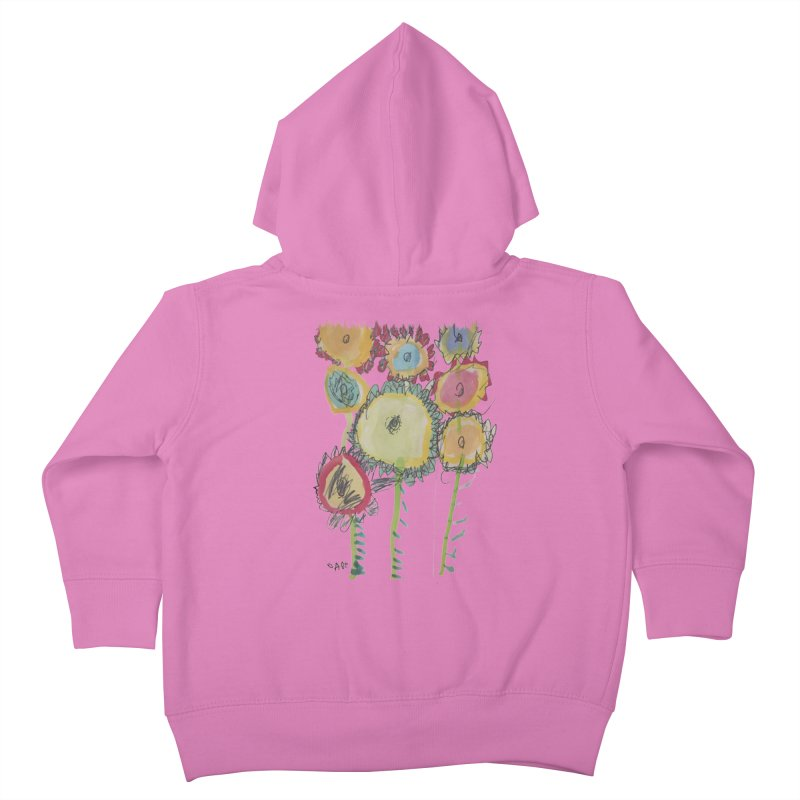 Bouquet of Fleurs Kids Toddler Zip-Up Hoody by Gabe and Taytay Artist Shop