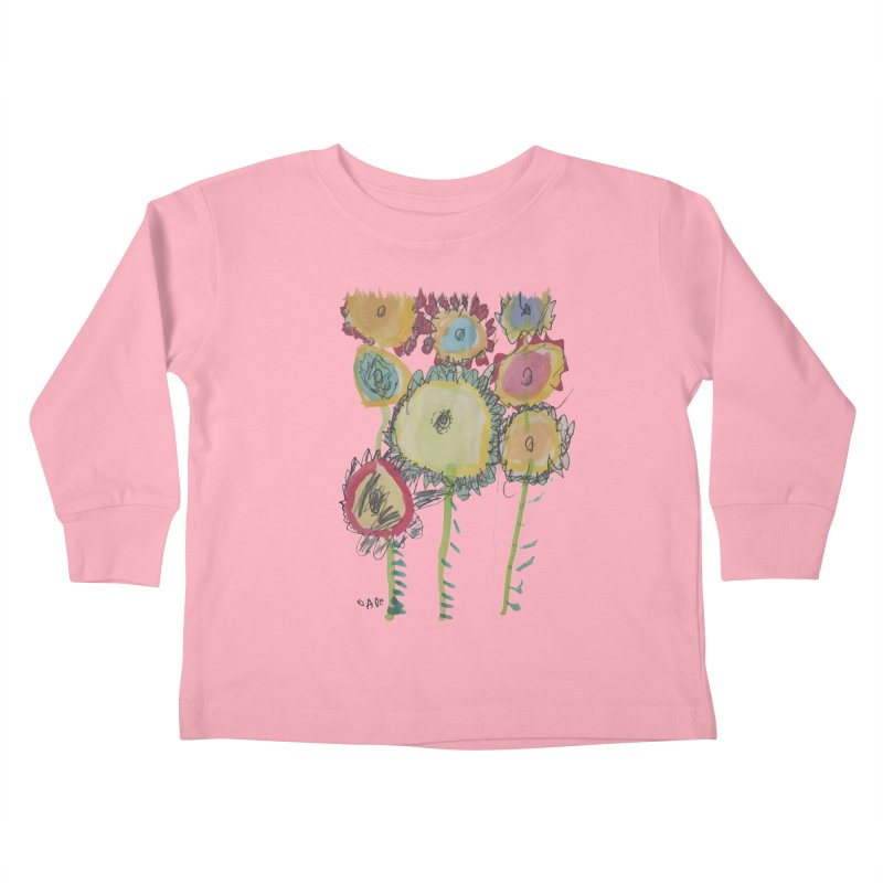 Bouquet of Fleurs Kids Toddler Longsleeve T-Shirt by Gabe and Taytay Artist Shop