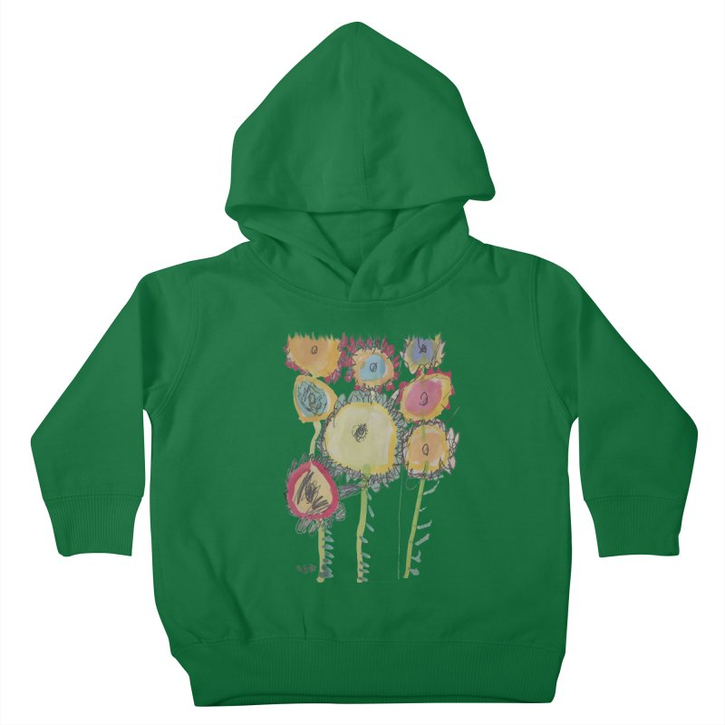 Bouquet of Fleurs Kids Toddler Pullover Hoody by Gabe and Taytay Artist Shop