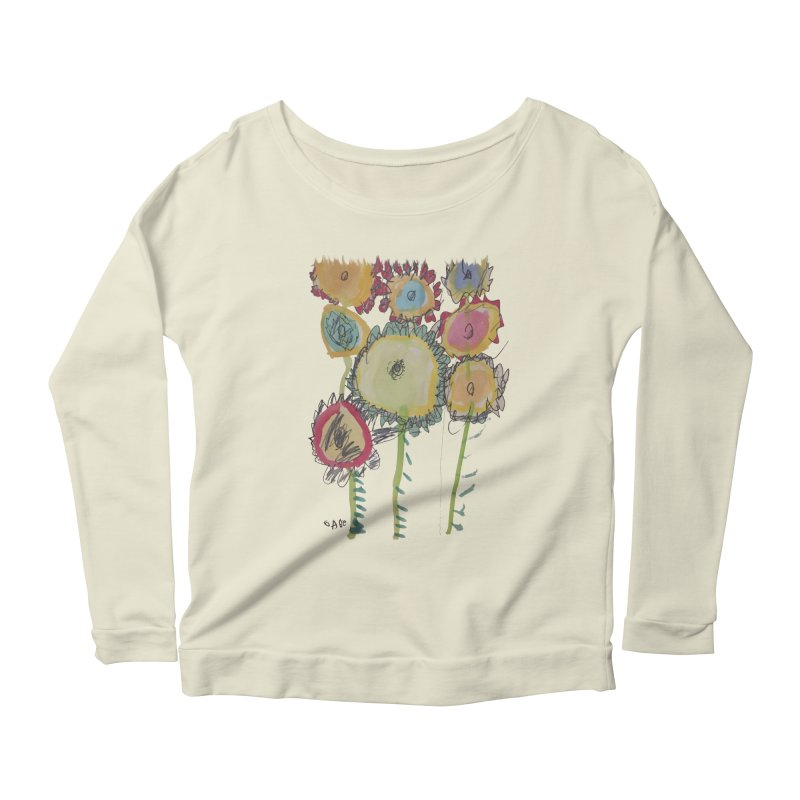 Bouquet of Fleurs Women's Longsleeve Scoopneck  by Gabe and Taytay Artist Shop
