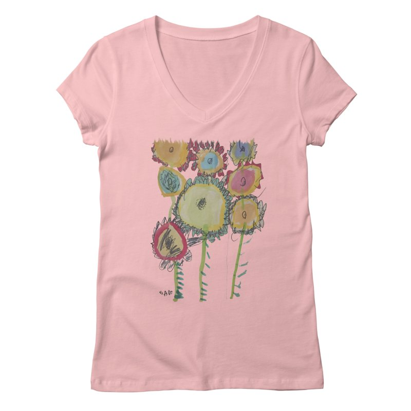 Bouquet of Fleurs Women's V-Neck by Gabe and Taytay Artist Shop