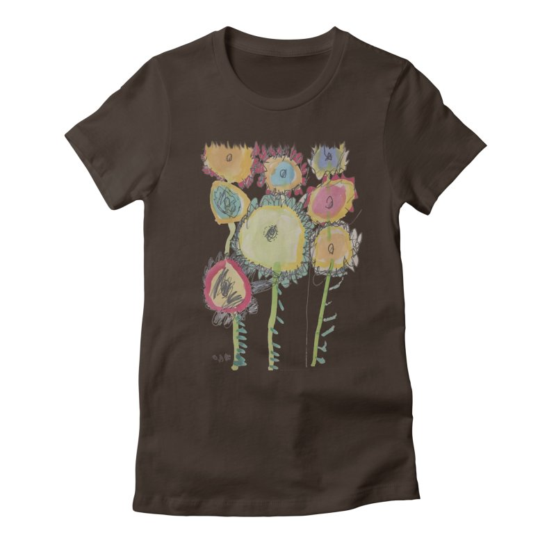 Bouquet of Fleurs Women's Fitted T-Shirt by Gabe and Taytay Artist Shop