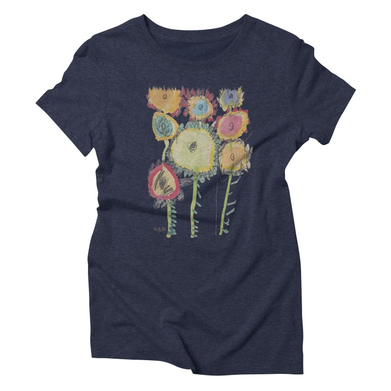 Bouquet of Fleurs Women's Triblend T-Shirt by Gabe and Taytay Artist Shop