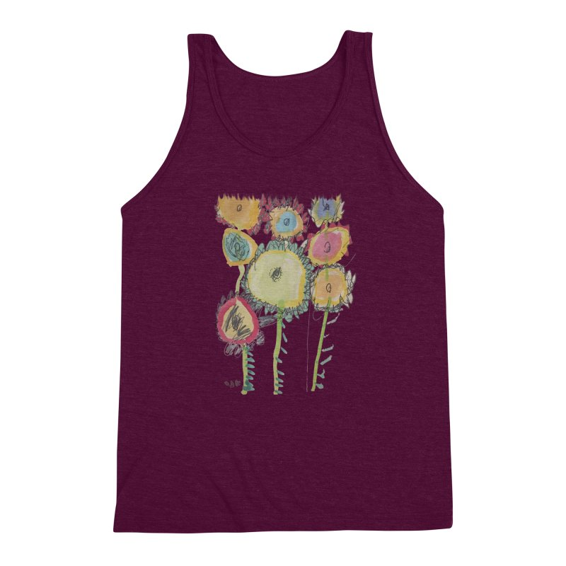 Bouquet of Fleurs Men's Triblend Tank by Gabe and Taytay Artist Shop