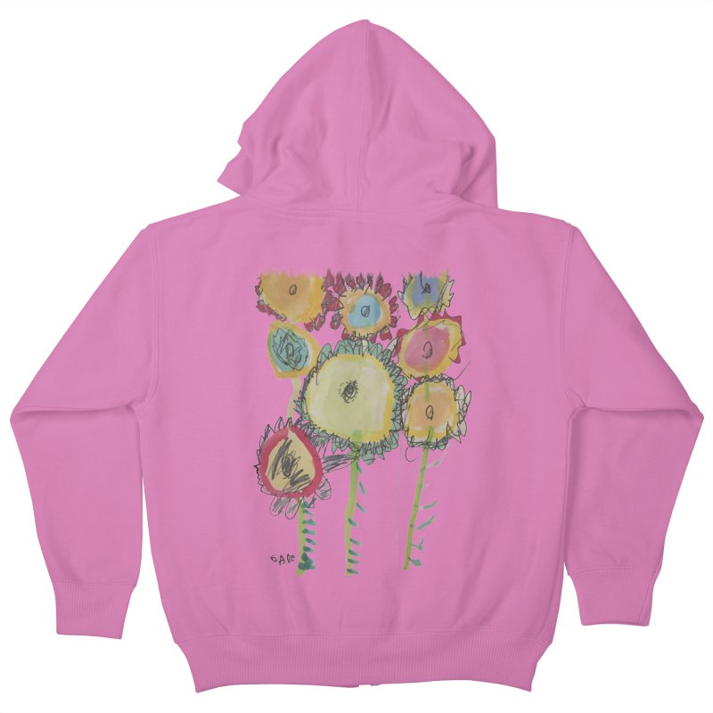Bouquet of Fleurs Kids Zip-Up Hoody by Gabe and Taytay Artist Shop