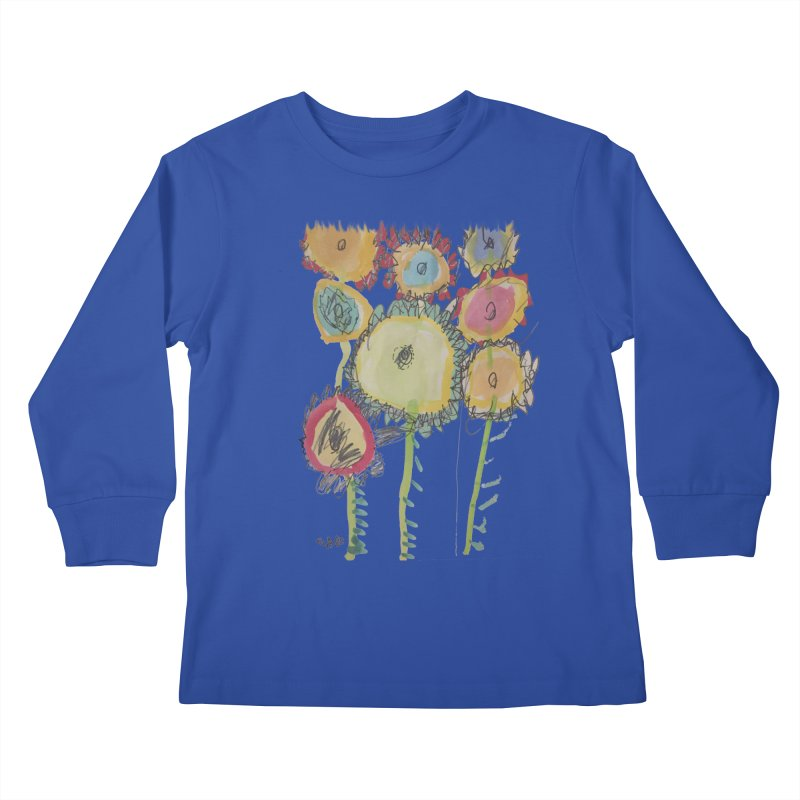 Bouquet of Fleurs Kids Longsleeve T-Shirt by Gabe and Taytay Artist Shop