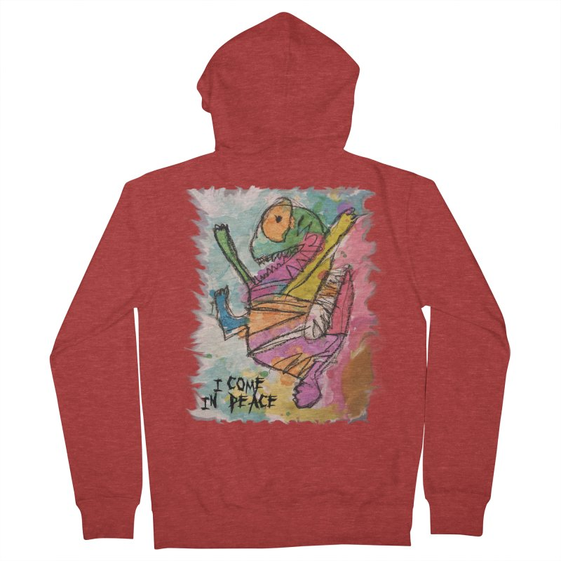 I Come in Peace Monster - Gabe Women's French Terry Zip-Up Hoody by Gabe and Taytay Artist Shop