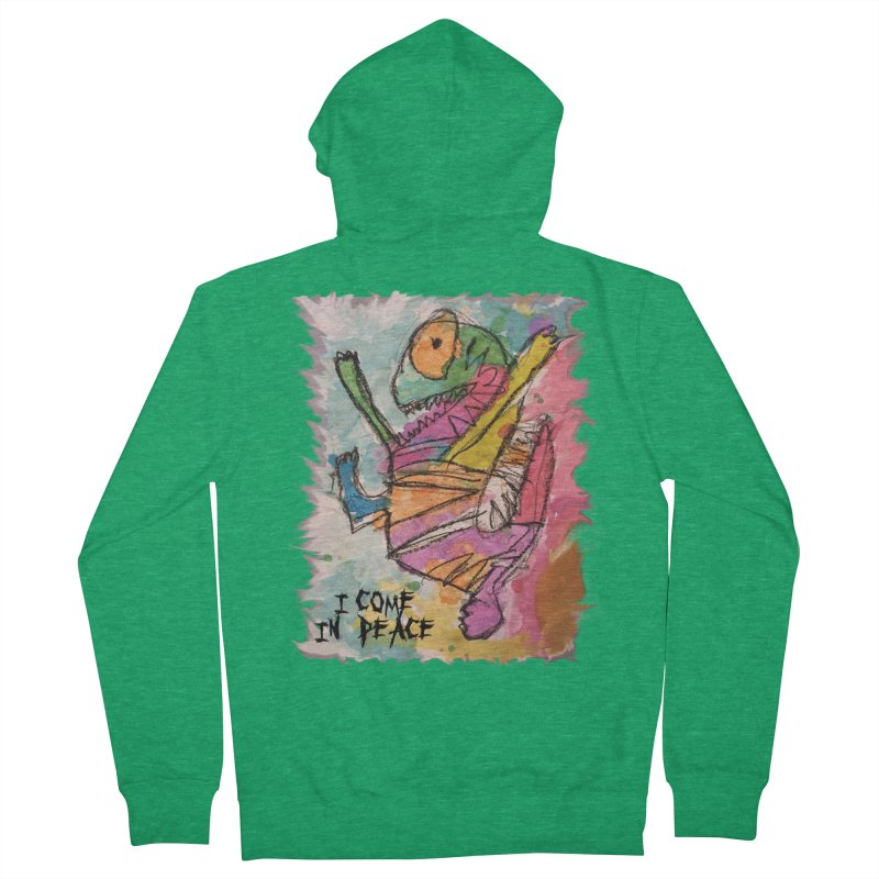I Come in Peace Monster - Gabe Men's Zip-Up Hoody by Gabe and Taytay Artist Shop