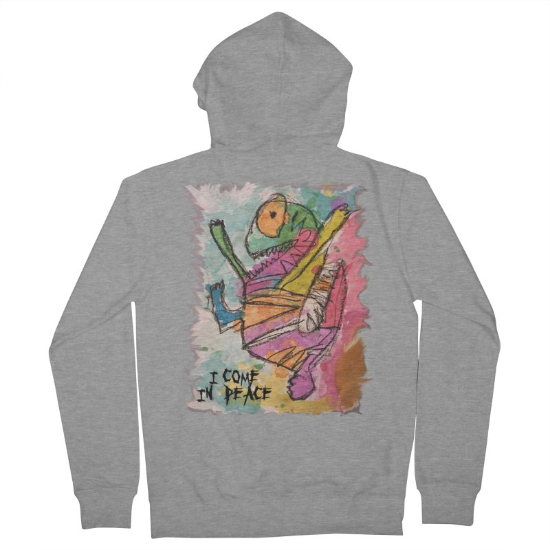 I Come in Peace Monster - Gabe Men's French Terry Zip-Up Hoody by Gabe and Taytay Artist Shop