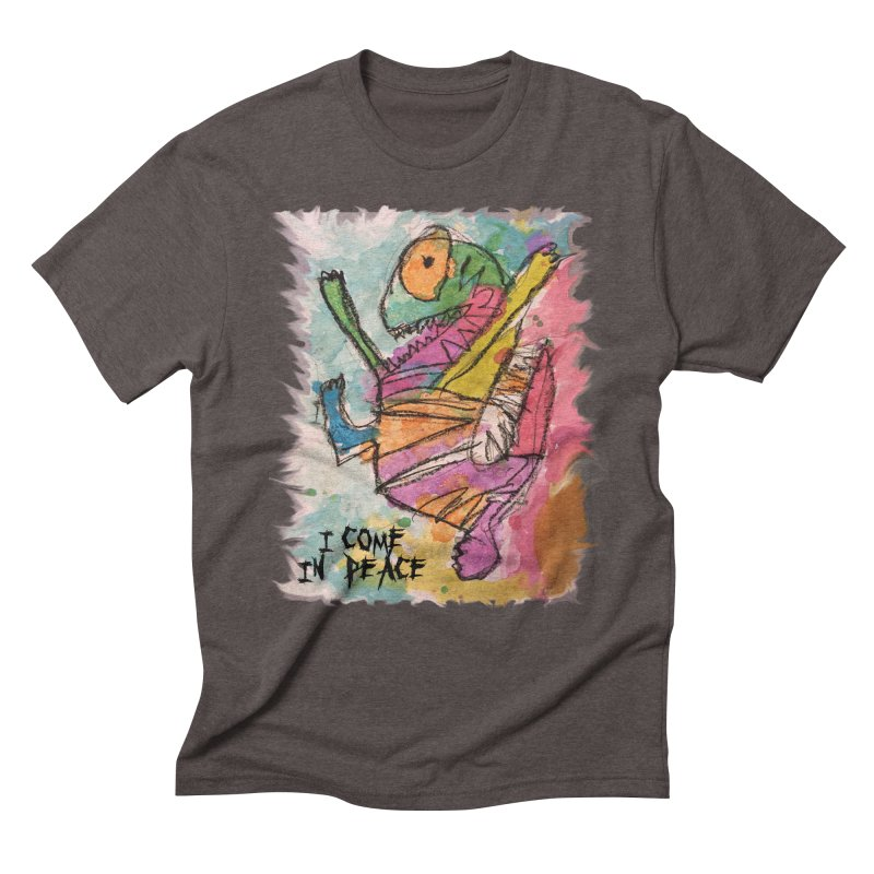 I Come in Peace Monster - Gabe Men's Triblend T-shirt by Gabe and Taytay Artist Shop