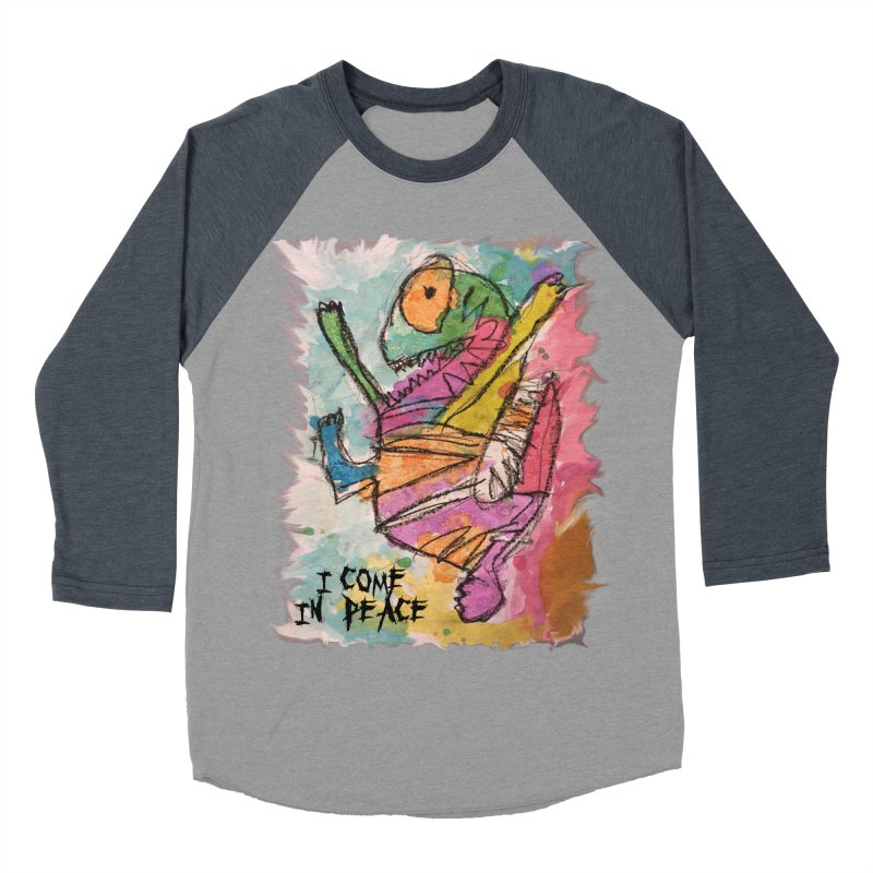 I Come in Peace Monster - Gabe Women's Baseball Triblend T-Shirt by Gabe and Taytay Artist Shop