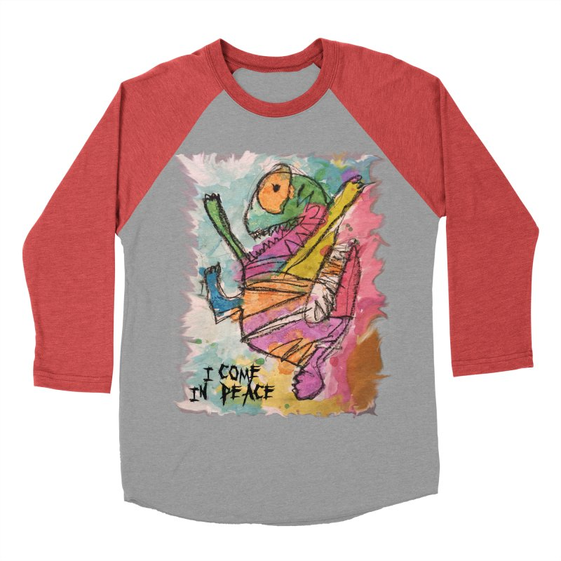 I Come in Peace Monster - Gabe Men's Baseball Triblend T-Shirt by Gabe and Taytay Artist Shop