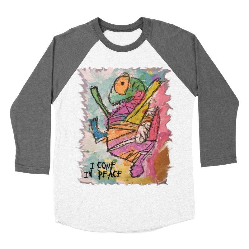 I Come in Peace Monster - Gabe Men's Baseball Triblend Longsleeve T-Shirt by Gabe and Taytay Artist Shop