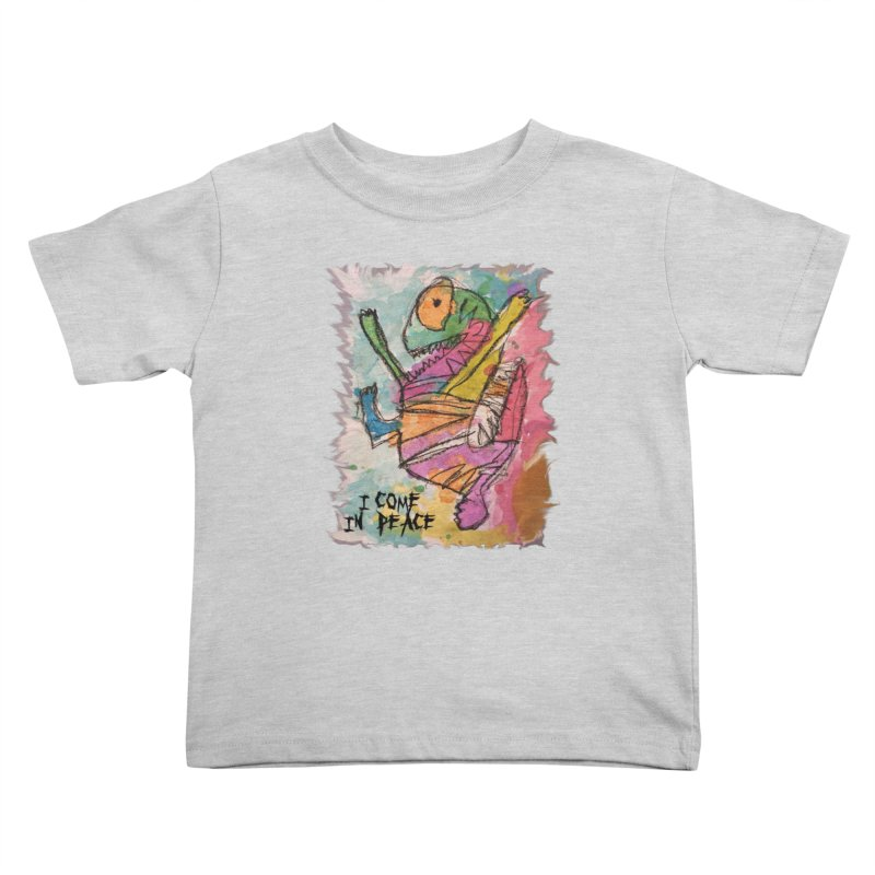 I Come in Peace Monster - Gabe Kids Toddler T-Shirt by Gabe and Taytay Artist Shop