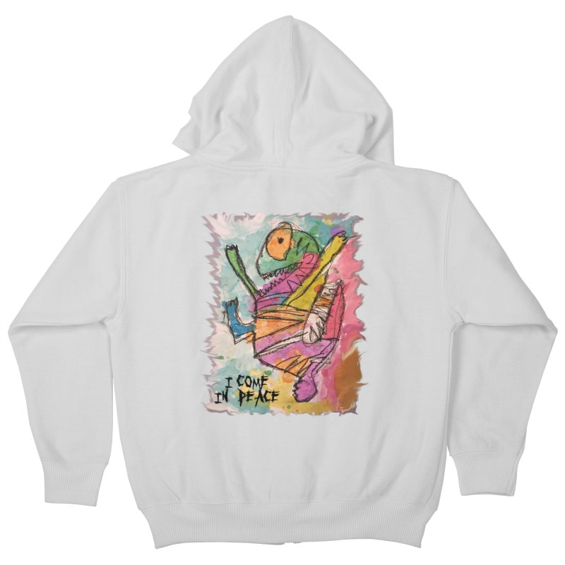 I Come in Peace Monster - Gabe Kids Zip-Up Hoody by Gabe and Taytay Artist Shop