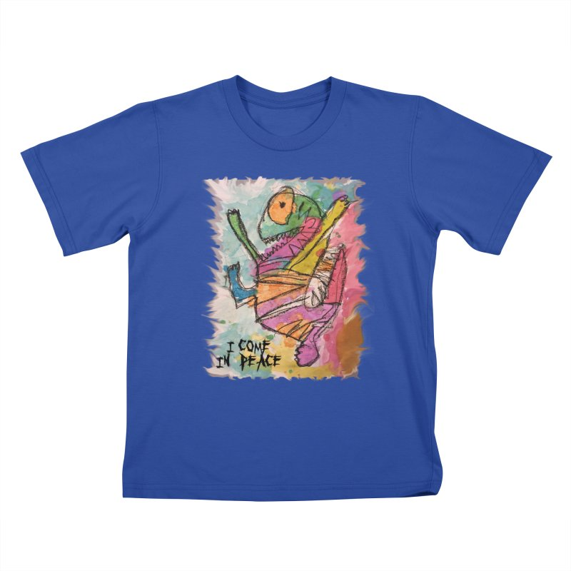 I Come in Peace Monster - Gabe Kids T-shirt by Gabe and Taytay Artist Shop