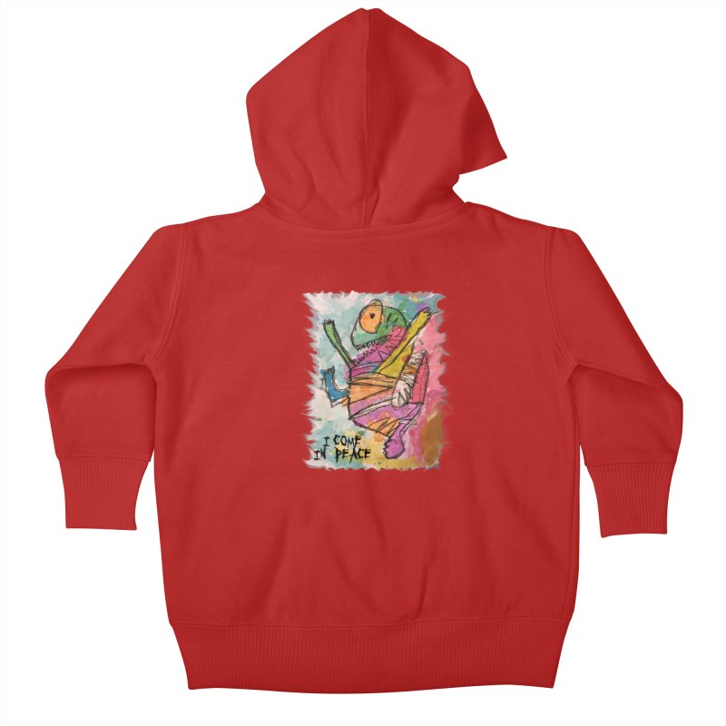 I Come in Peace Monster - Gabe Kids Baby Zip-Up Hoody by Gabe and Taytay Artist Shop