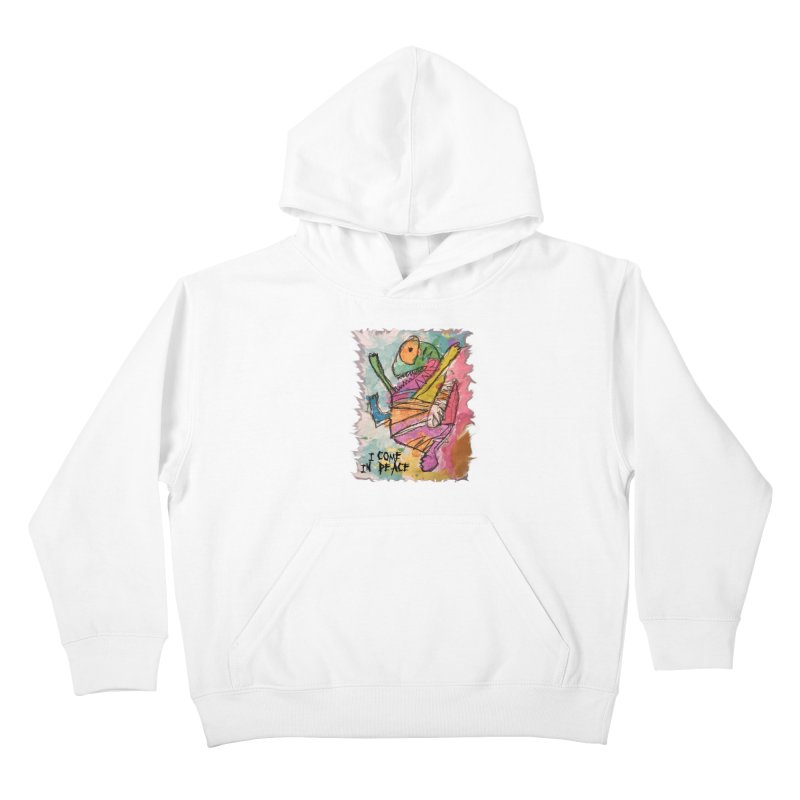 I Come in Peace Monster - Gabe Kids Pullover Hoody by Gabe and Taytay Artist Shop