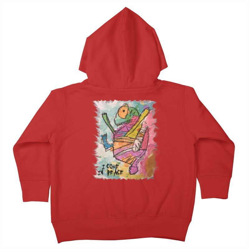 I Come in Peace Monster - Gabe Kids Toddler Zip-Up Hoody by Gabe and Taytay Artist Shop