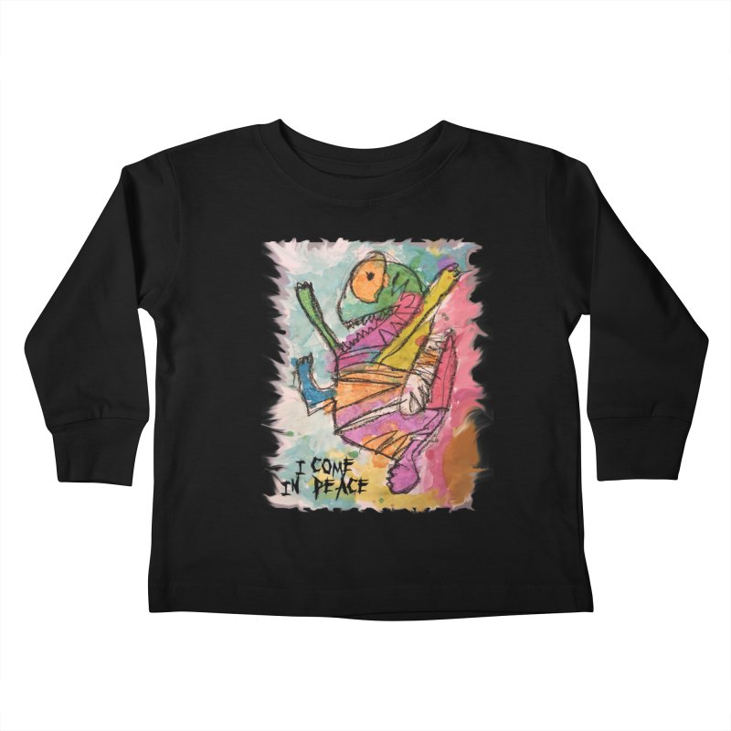 I Come in Peace Monster - Gabe Kids Toddler Longsleeve T-Shirt by Gabe and Taytay Artist Shop