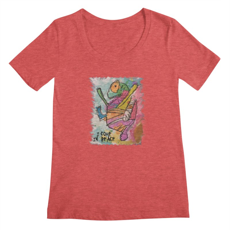 I Come in Peace Monster - Gabe Women's Scoopneck by Gabe and Taytay Artist Shop
