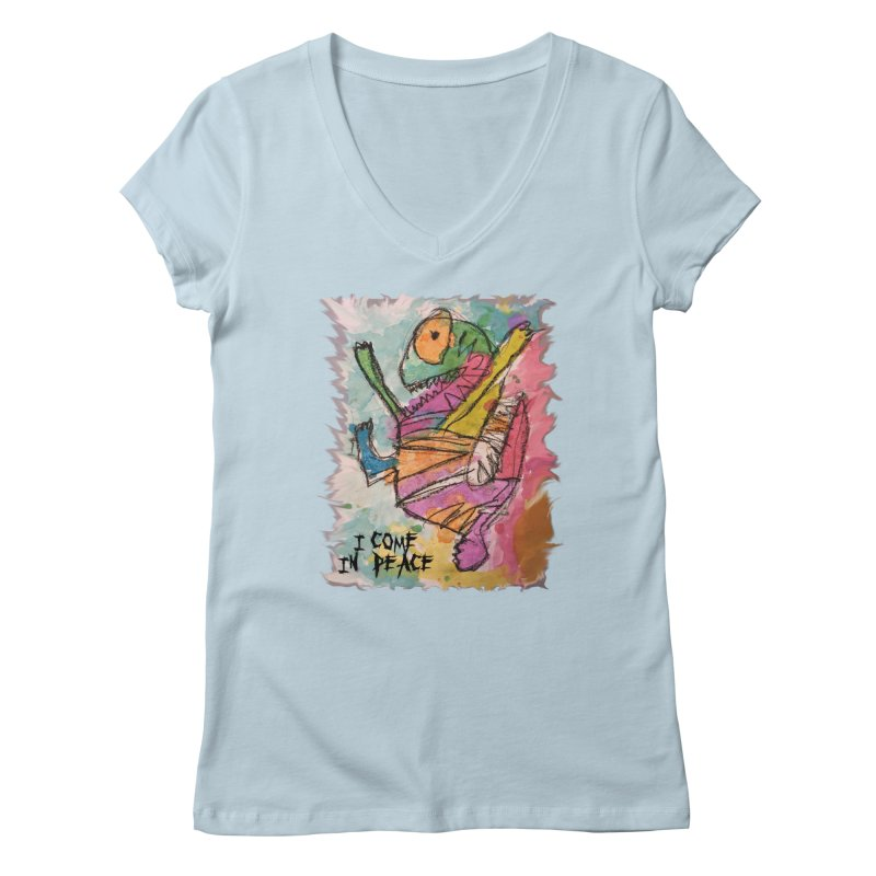 I Come in Peace Monster - Gabe Women's V-Neck by Gabe and Taytay Artist Shop