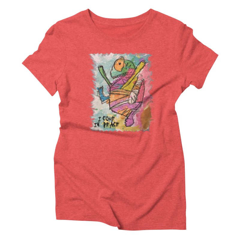 I Come in Peace Monster - Gabe Women's Triblend T-Shirt by Gabe and Taytay Artist Shop