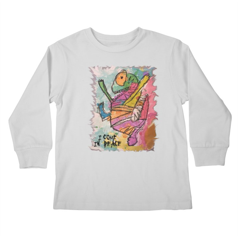 I Come in Peace Monster - Gabe Kids Longsleeve T-Shirt by Gabe and Taytay Artist Shop