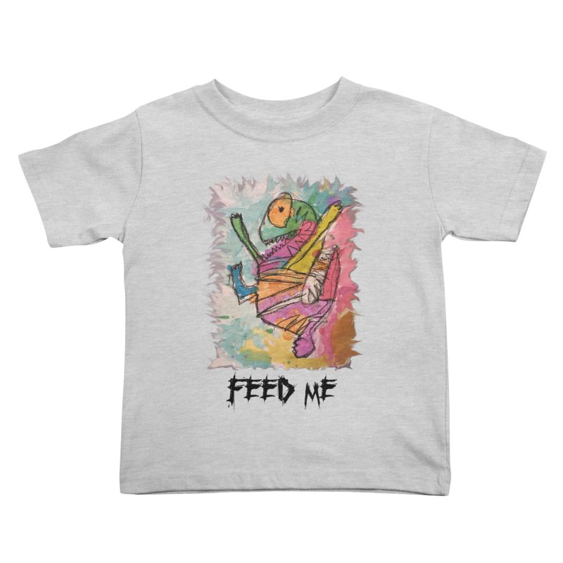 Feed Me Monster Kids Toddler T-Shirt by Gabe and Taytay Artist Shop