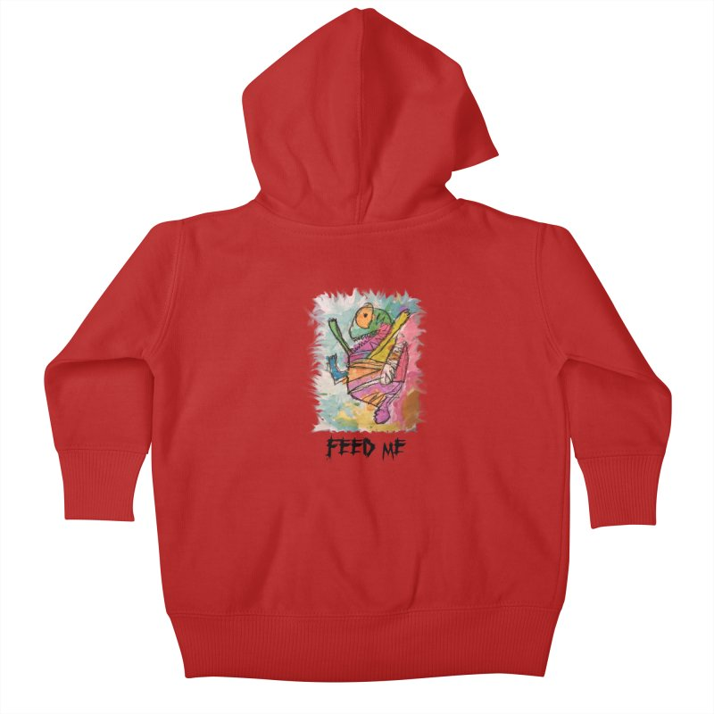 Feed Me Monster Kids Baby Zip-Up Hoody by Gabe and Taytay Artist Shop