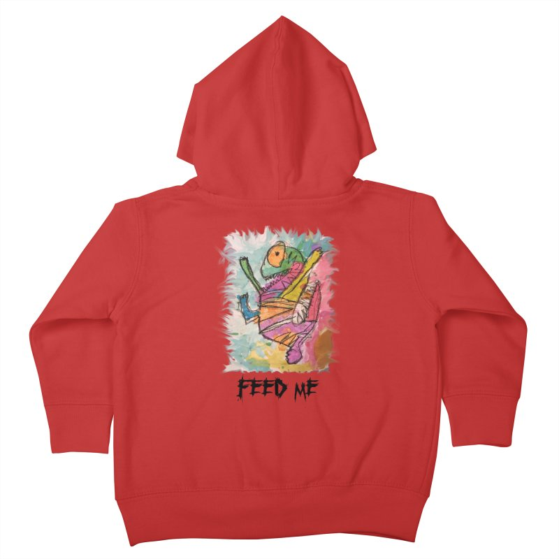 Feed Me Monster Kids Toddler Zip-Up Hoody by Gabe and Taytay Artist Shop