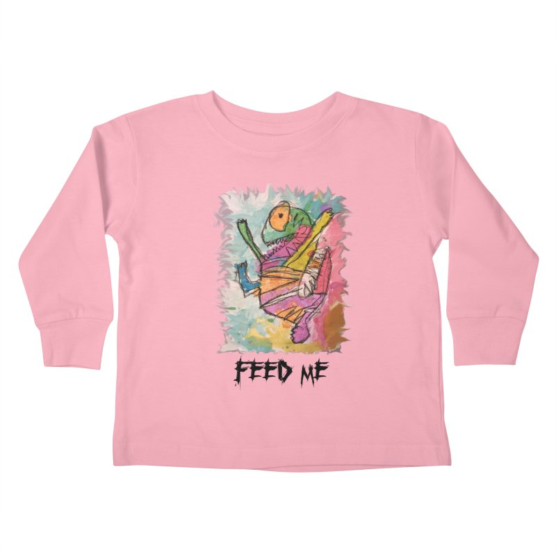 Feed Me Monster Kids Toddler Longsleeve T-Shirt by Gabe and Taytay Artist Shop