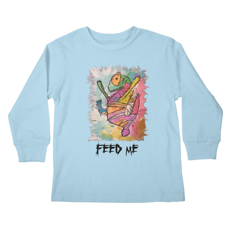 Feed Me Monster Kids Longsleeve T-Shirt by Gabe and Taytay Artist Shop