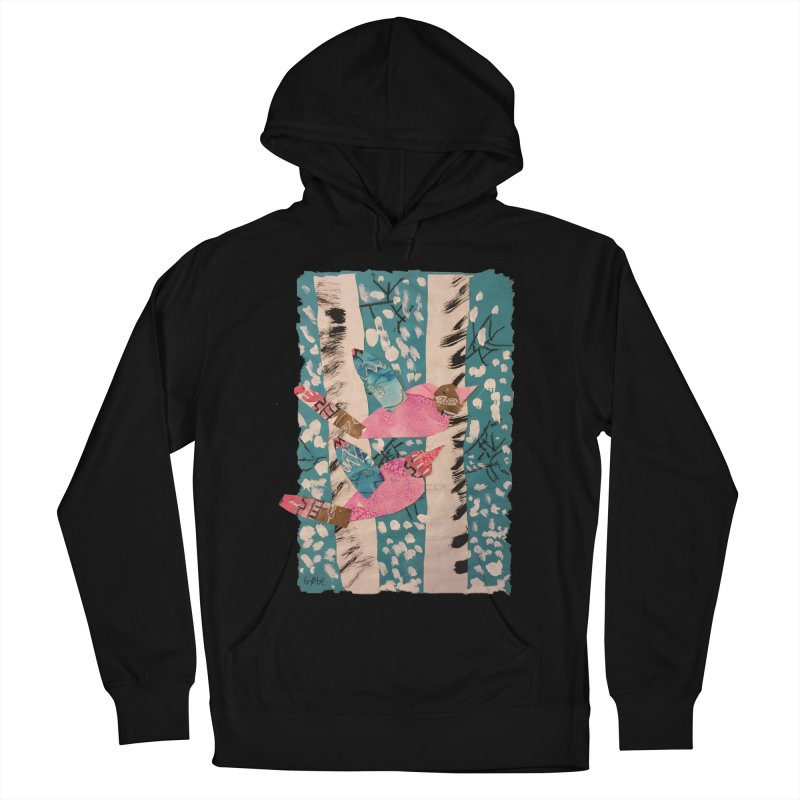 Snowy Aspen Birds Men's Pullover Hoody by Gabe and Taytay Artist Shop