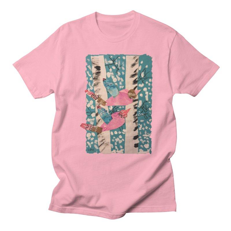 Snowy Aspen Birds Men's T-shirt by Gabe and Taytay Artist Shop