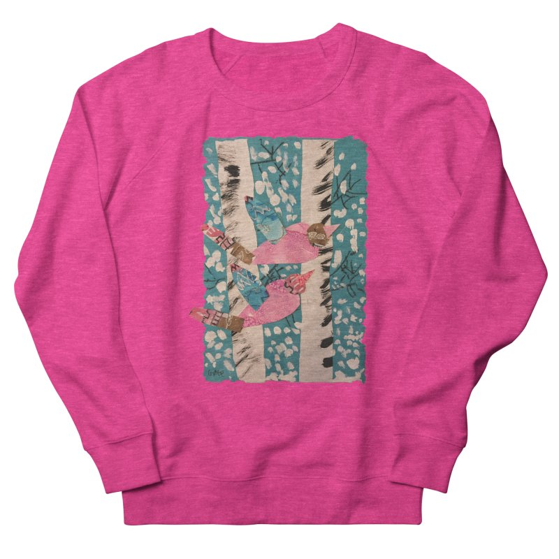 Snowy Aspen Birds Women's Sweatshirt by Gabe and Taytay Artist Shop
