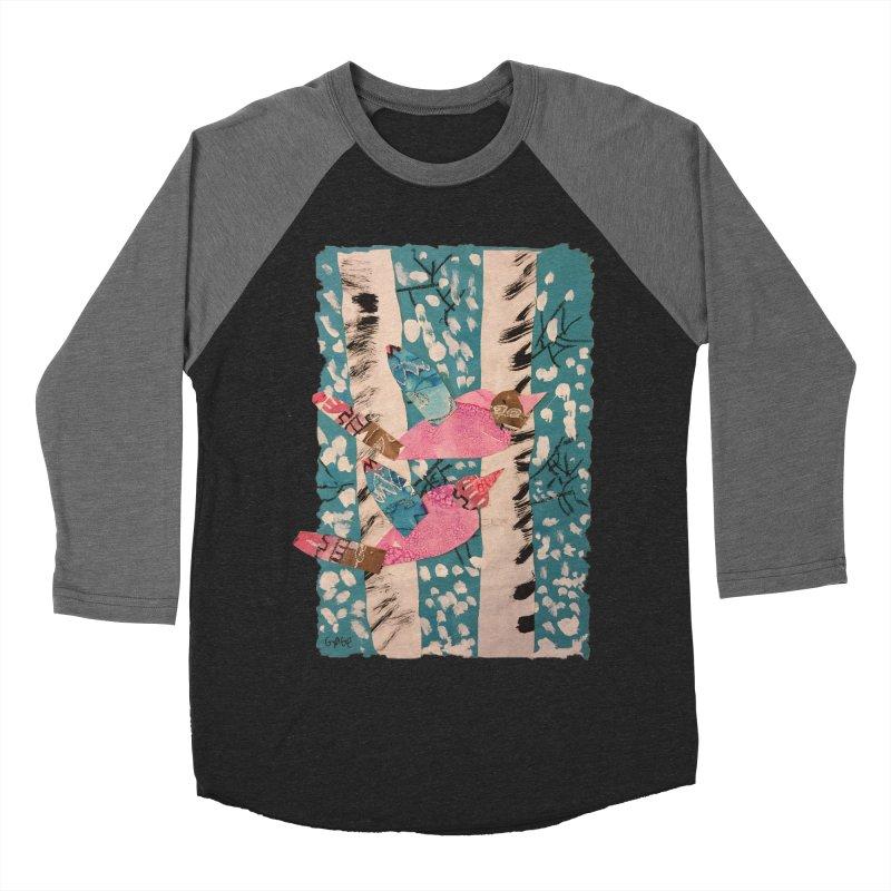 Snowy Aspen Birds Women's Baseball Triblend T-Shirt by Gabe and Taytay Artist Shop